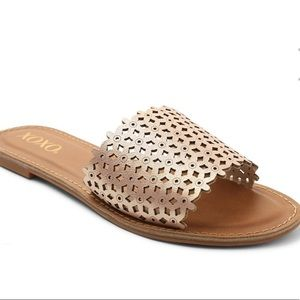 XOXO Rachad Rose Gold Slides / Sandals- Like New!